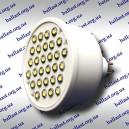 Светодиодная лампа под цоколь GU 5.3 на 30 диодов