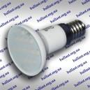 LED лампа с керамическим корпусом и линзой