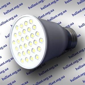 Светодиодная лампа Е-27 30 smd диодов холодный свет