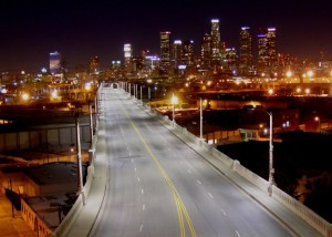 Лос-Анжелес со светодиодами