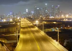 Лос-Анжелес с натриевыми лампами