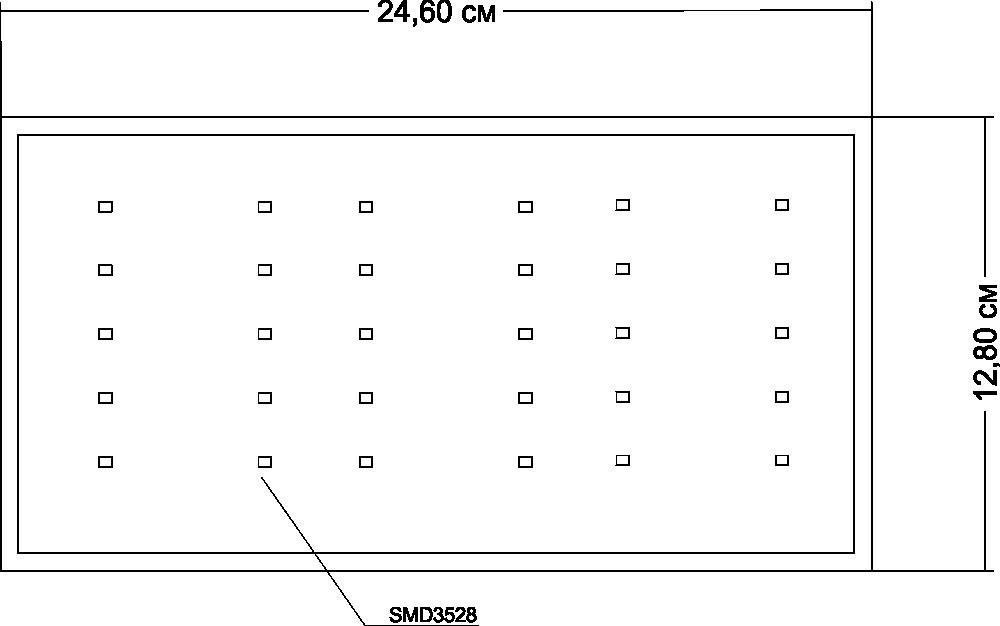 Сверхтонкий светильник 18 Вт