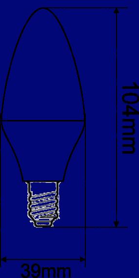 Самая яркая Led лампа Electrum в форме свечки, мощная светодиодная лампа – цена 70 грн, Продажа в Киев, Николаев, Одесса