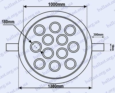 схема точечного светильника, точечный светильник